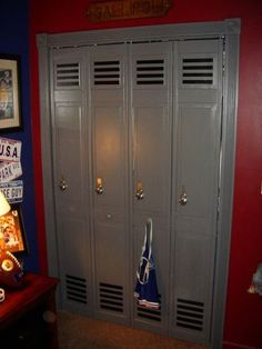 SAVE THOSE AWFUL STOCK CLOSET DOORS! just a great job on Sporty Bedrooms for Teen Boys