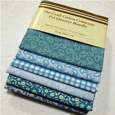 Craft Cotton Company Fat Quarter Bundle Classic Turquoise 6pk £6.50 (£13.00)