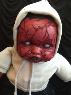 Demon From Hell Horror Doll Collectible One of a Kind ART
