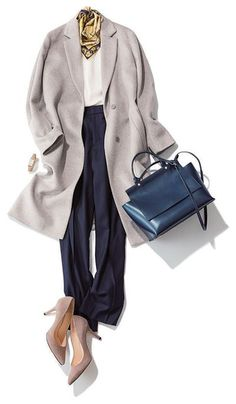New japanese fashion casual sewing patterns Ideas Fashion In, Office Fashion, Winter Fashion, Fashion Outfits, Womens Fashion, Classy Outfits, Trendy Outfits, Pantalon Large, Inspiration Mode