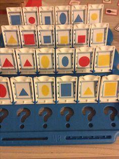 Wat is het? Met vormen en kleuren. Bron jufsanne *liestr* Math For Kids, Crafts For Kids, Inclusive Education, Montessori, Kindergarten, Classroom, Shapes, Teaching, School