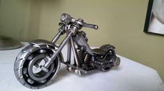 Custom made scrap metal art harley motorcycle by TiDYEcreations  One of my favorite builds so far