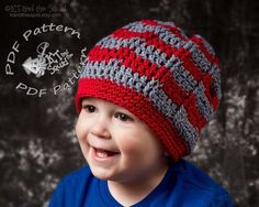 Striped slouchy crochet pattern permission to by ktandthesquid, $4.00