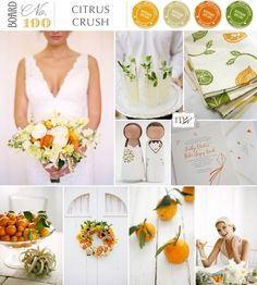 Image result for muted citrus wedding palette
