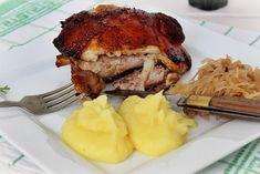 Hagyma és almaágyon sült csülök Recept képpel - Mindmegette.hu - Receptek Hungarian Recipes, Steak, Food And Drink, Pork, Lunch, Beef, Cooking, Kale Stir Fry, Meat
