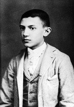 Pablo Picasso aos 15 anos de idade. Espanha, 1896.