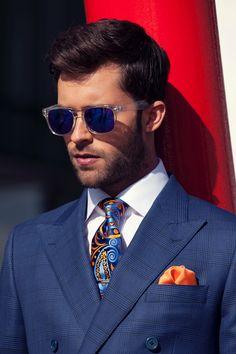 Men's Fashion Inspiration #sunnies #peak #suits #plaid
