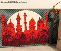 Diario de viaje con una botellita de recuerdo: http://lavidaenscrap.blogspot.com.es/2014/07/diario-de-marrakech.html