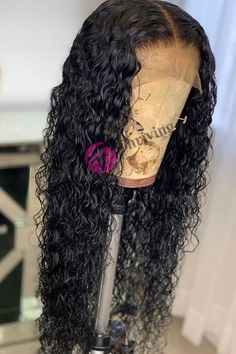 "Top Virgin Human Hair Pre-Plucked Water Wave 13""x6"" Parting Line Lace Front Wigs [V29-FRONT6]"