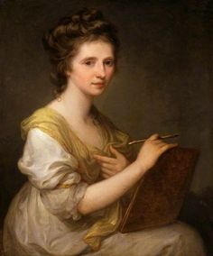 Angelica Kauffman (Self Portrait), c.1770-1779. Angelica Kauffmann. Oil on…