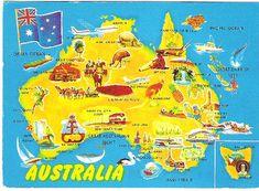 Australia map postcard | Flickr - Photo Sharing!