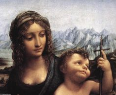 Madonna with the Yarnwinder (detail), Oil On Panel by Leonardo Da Vinci (1452-1519, Italy)