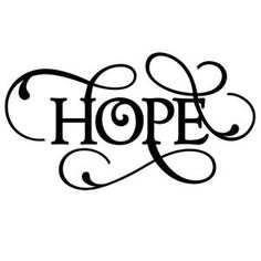 Silhouette Design Store: flourish word - hope