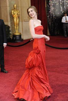 Anne Hathaway in Valentino.