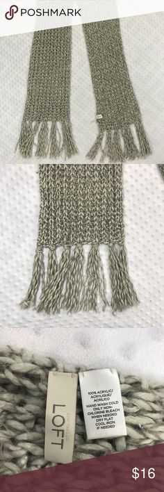 Ann Taylor Gray Cozy Scarf Item: Ann Taylor LOFT Women's Gray Silver Acrylic Cozy Scarf Base Color:  Gray Fabric: acrylic Ann Taylor Accessories Scarves & Wraps