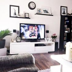 Living Room Wall Decor Ideas With Tv. The Natural Side Of 3 Neutral Color Living Room Designs . Home and Family Over Tv Decor, Wall Decor Above Tv, Shelf Above Tv, Room Wall Decor, Wall Tv, Wall Clock Above Tv, Living Room Decor Above Tv, Tv Wall Shelves, Tv Shelving