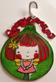 handmade Christmas embellishment for crafting and scrapbooking with