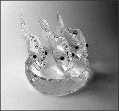 This is a beautiful ornament of three fish swimming. This adorable piece will make a creative gift for any occasion including: Birthdays, Fathers Day Gifts, I love you gift, something special for him or her. Gifts For Dad, Fathers Day Gifts, Fish Ornaments, Fish Swimming, Crystal Design, Crystal Gifts, Special Birthday, Faceted Crystal, Tropical Fish