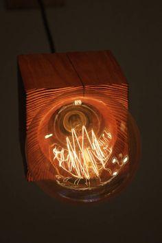 Pendant wood light Wood Pendant Light, Wood Chandelier, Rustic Design, Light Bulb, Texture, Handmade, Etsy, Vintage, Bulb Lights
