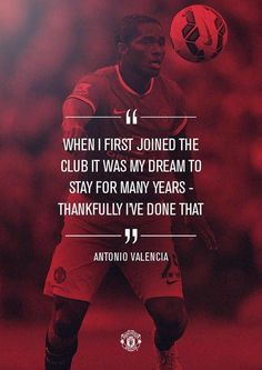 Antonio Valencia registered his appearance for Manchester United in Saturday's win over Hull. Manchester United Players, Forever Red, Sir Alex Ferguson, Soccer Quotes, Football Team, Valencia, The Unit, Sports, Simply Red