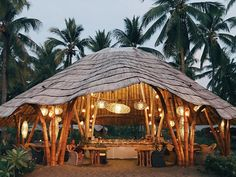 One of my most memorable nights happened in Maumere. We danced to live music played by the locals and did the limbo-rock, sat under the… Jungle House, Forest House, Bamboo House Design, Bamboo Building, Bamboo Structure, Architecture Concept Drawings, Bamboo Architecture, Natural Structures, Bamboo Garden