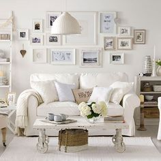 53 Beautiful White Shabby Chic Living Rooms Ideas