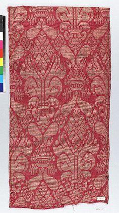 16th century Culture: Spanish Medium: Silk and metal thread Dimensions: 7 x 20 inches (17.8 x 50.8 cm)