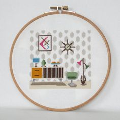 This modern cross stitch design with a retro feel will look great on your walls or will make a great gift to someone you like!  This is a
