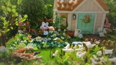 Animal Crossing Cafe, Island Theme, Garden Sculpture, Creative, Plants, Twitter, Core, Gaming, Fairy