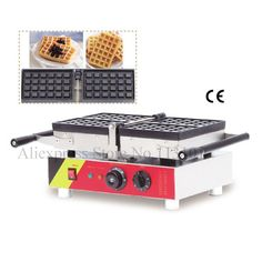 1200W Lattice Thicken Commercial Non Stick Plates Waffle Maker Stainless Steel A