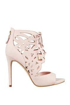 Anny Laser-Cut Heels | GUESS.com