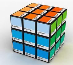 Pantones en cubo