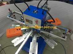 silk screen printing machine: 3color used rotary screen printing machine