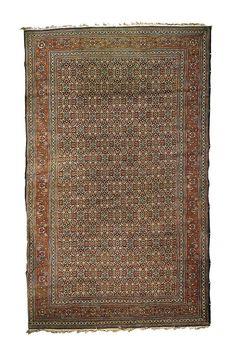Antique Rugs/Persian Rugs: Kashan Rugs: Silk Kashan Rug C. 1900 Sotheby's lot 31