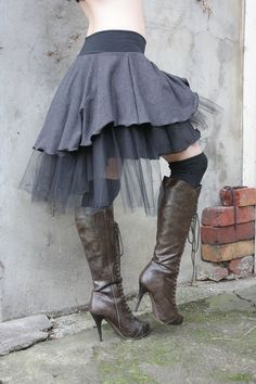 Tutu - Amy Lee is my inspiration when it comes to rocking the Tutu! Diesel Punk, Mori Girl, Gothic, Sweater Sale, Fashion Beauty, Womens Fashion, Funky Fashion, Kawaii, Diy Clothes