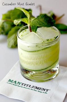 Cucumbers, fresh mint and gin combine to make this perfect cocktail!