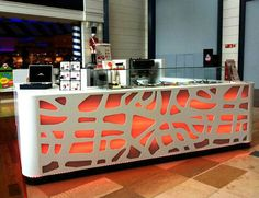 """Kiosk Design in corian- Francisco Silván,  """"Ö!mygood"""", at Mall Puerto Venecia, in zaragoza,  2013"""