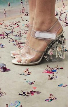 Prada's fantastic fashion illusions via: mymodernmet cabbagerose: i have beach fever…the weather is beautiful in chicago and i am ready to go…