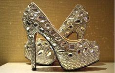 custom wedding shoes crystal Wedding shoes by Luxuryphonecase88