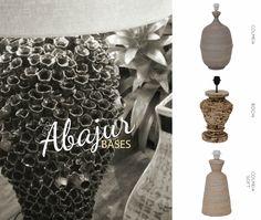 IFD2 Bases para abajur: Colmeia, Bochi e Colmeia Soft #ifd2 #base #abajur #homedecor #style #design #details #bivolt #decoration #decorstyle #colmeia #bochi #objetosdedecoração #chic #shape #exclusive...