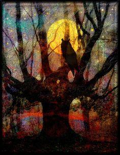 'Owl and Willow' von mimulux bei artflakes.com als Poster oder Kunstdruck $16.63