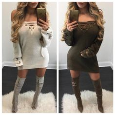 Carly Lace Up Knit Sweater - Diva Boutique Online - 1
