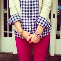 Preppy College Glam