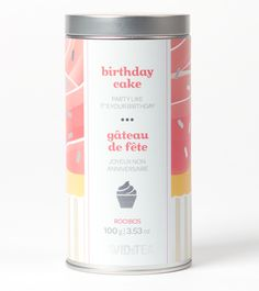 Birthday Cake - Sweet And Festive Rooibos Blend With Honeybush, Green Rooibos, Freeze-Dried Ice Cream and Sprinkles Freeze Dried Ice Cream, Tea And Crumpets, Davids Tea, Tea Smoothies, Tea Brands, Birthday Cake, Birthday Month, Happy Birthday, My Cup Of Tea