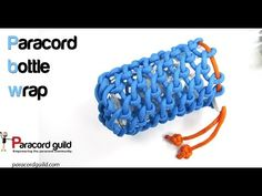 Paracord bottle wrap tutorial.