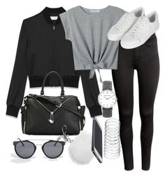"""""""Untitled #1962"""" by mariie00h ❤ liked on Polyvore featuring Yves Saint Laurent, H&M, Diesel, Michael Kors, Jeepers Peepers, Topshop and Inspired"""
