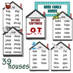 34 Best Word Family House Images Sight Words Preschool Activities