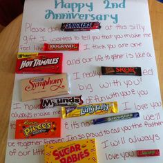 """Did this for my hubby for our 2yr anniversary. He also got a container of """"cotton"""" candy :)"""