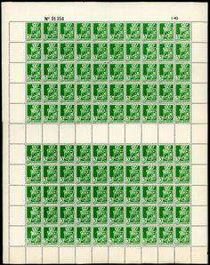 Algeria sc#146 Unused NH Full Sheet of 100 - bidStart (item 45371624 in Stamps, Africa, Algeria)