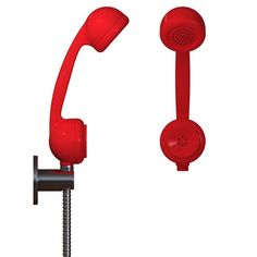 Shower Head That Looks Like A Phone     WANT!
